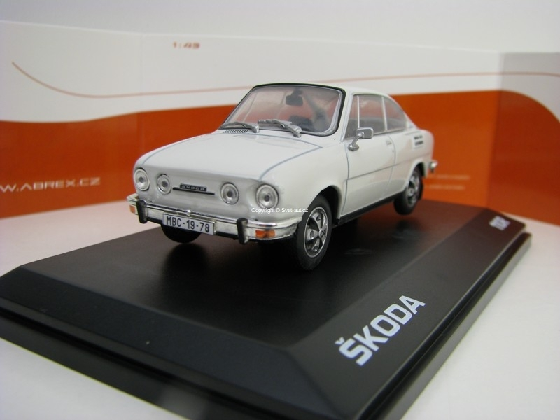 Škoda 110R Coupé 1980 Gray White 1:43 Abrex